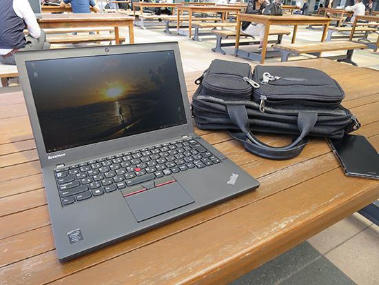 屋外でも見やすい液晶ディスプレイのThinkPad X250