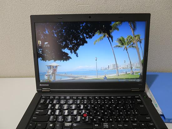 ThinkPad T440pにはハワイの壁紙