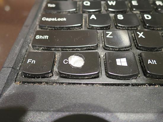 ThinkPad X230 Ctrlボタンがなぜかはげている