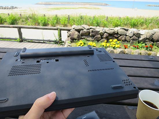 Thinkpad X250のリアバッテリーに6セルを搭載するとバッテリー残量を気にすることがないのがうれしい