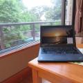 温泉旅館でThinkpad X250 仕事に集中できないときは・・・