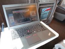 新幹線内でThinkPad X250を立ち上げてOCNモバイルONEの速度を計測