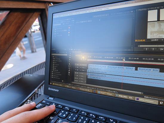 ThinkPad X250 HD液晶で動画編集 adobe premiereを使用