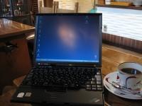 Thinkpad X60sを長野善光寺前にあるカフェで開く