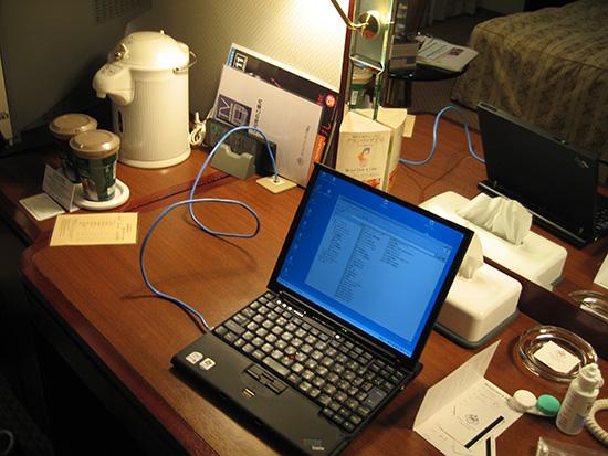 ThinkPad X60s ホテルグランヴィア岡山の部屋にて