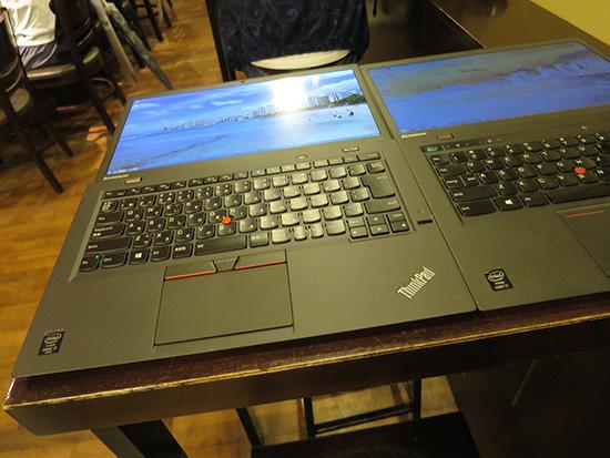 ThinkPad X1 Carbon 2015と新しいThinkPad X1 Carbon 2014液晶を180度開いてみる