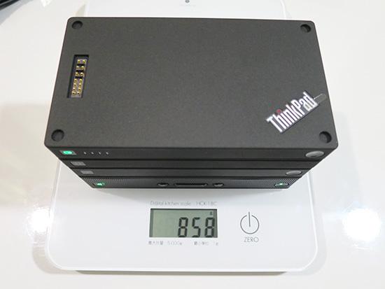 ThinkPad Stack 全体の重量を量ってみた