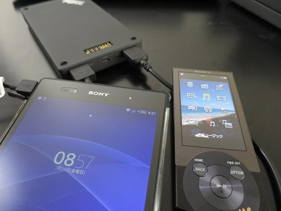 ThinkPad Stack 10000mAh パワーバンク USB端子が2つ スマホ2台同時充電も可能