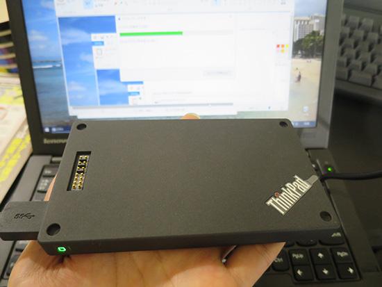 windows10 システムイメージの作成 バックアップにはThinkPad Stack 1tb HDDを使用
