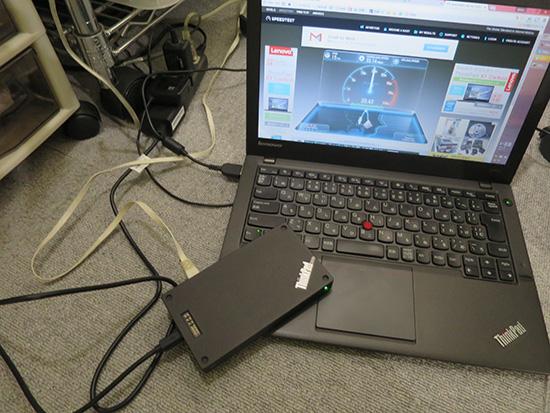 ThinkPad Stack ワイヤレスルーター 11acに対応しているので高速