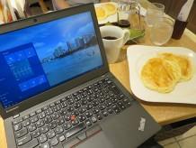 むさしの森珈琲 ふわとろパンケーキとThinkPad X250