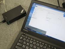 Thinkpad Stack 1TB HDDへ ワイヤレスルーター経由でX250の動画ファイルをバックアップ中