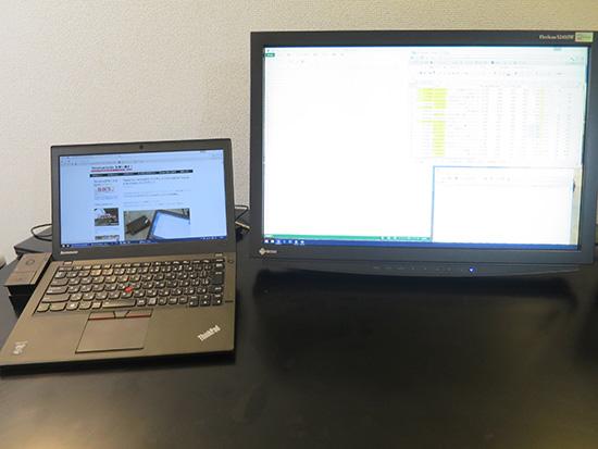 ThinkPad ウルトラドックならば周辺機器が後ろにまとまるので机が広く使える