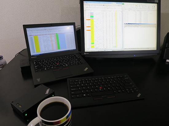 ThinkPad X250 ウルトラドックにドッキングしてマルチモニタ