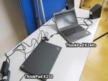 イベント会場でThinkpad X240sと X250