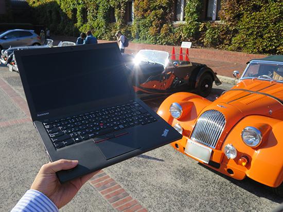 イギリス車のスポーツカーモーガンとThinkpad X250