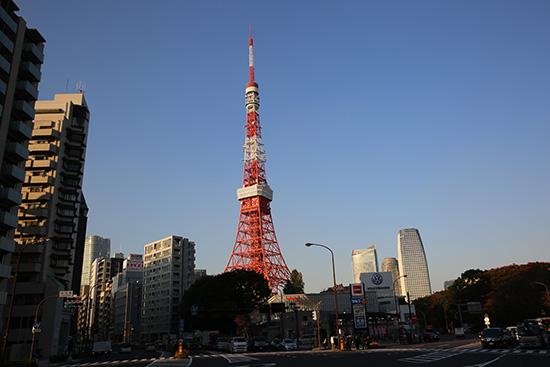 赤羽橋からの東京タワー
