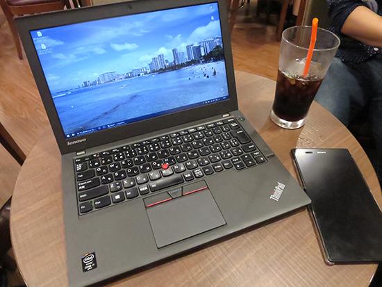 OCNモバイルONEを地下1階のサンマルクカフェで使ってみた