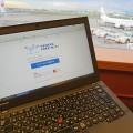 羽田空港国内線ターミナルエアポートラウンジでThinkpad X250