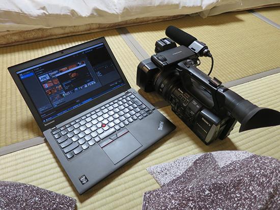 ThinkPad X250と畳がミスマッチでこれまたよい