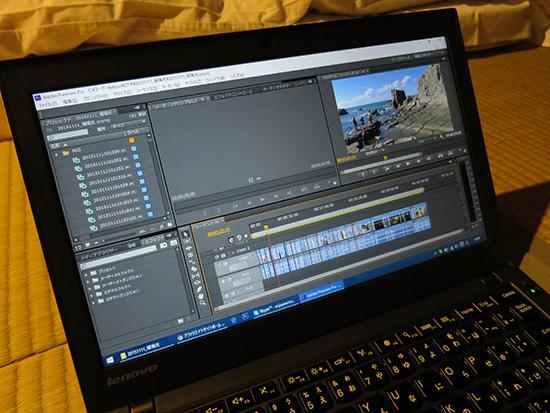 みんなが寝静まった夜にThinkpad X250で動画編集中