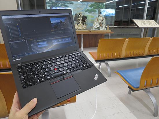 小松空港でアドビプレミアを使って旅の動画編集