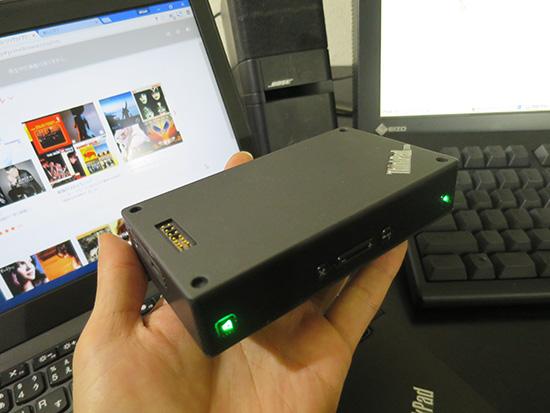 ThinkPad Stack ブルートゥーススピーカーは自由に動かせるので便利