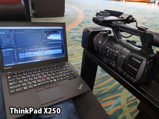 ThinkPad X250で動画編集