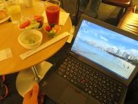 Thinkpad X250をデルタスカイクラブ ラウンジで開く 成田空港