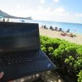 Thinkpad X250とハワイ。今日もいい天気でした