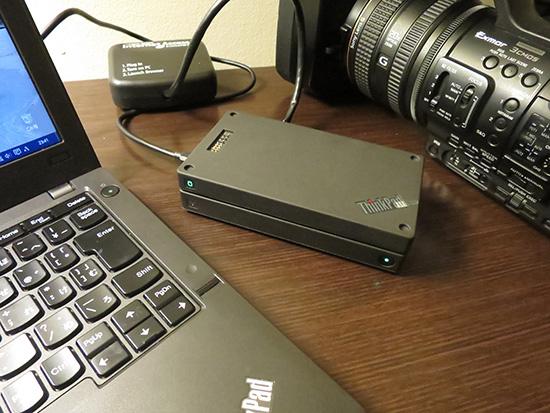 ThinkPad STACK ワイヤレスルーターとHDDを重ねると簡易サーバーに