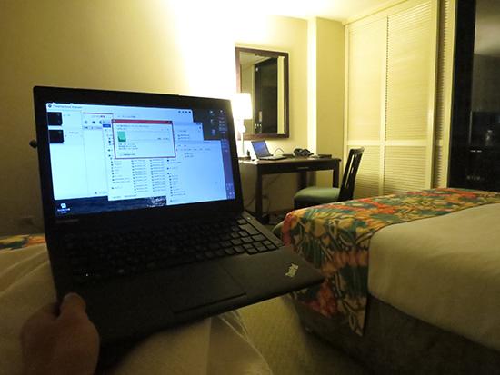 Thinkpad X240sからワイヤレスで写真をバックアップ