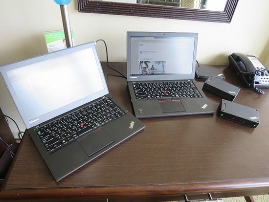 ハワイでは2台のThinkpadを仕事に使いました
