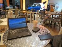 打ち合わせが早く終わったのでThinkpad X250をお気に入りのカフェで開く