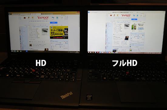 ThinkPad X260 フルHDにしたかった・・・