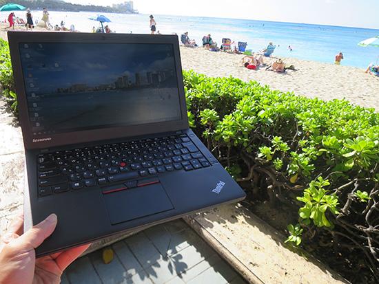 ハワイでThinkPad