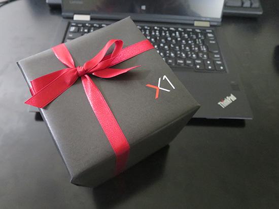 漆黒と赤いリボン THinkPadカラーなX1ファミリ発表会のお土産