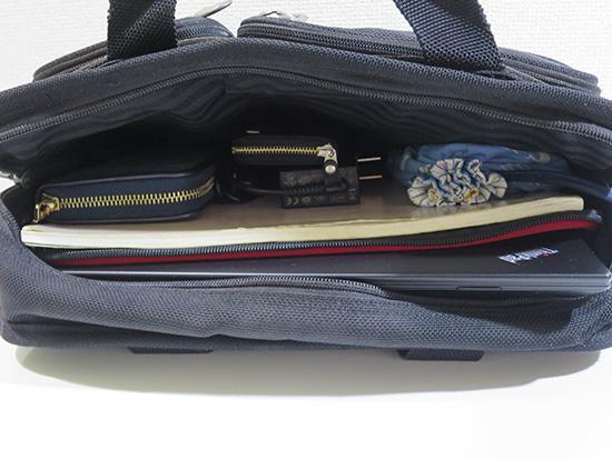 Yoga 260 持ち運びはA4バッグにぴったり入る