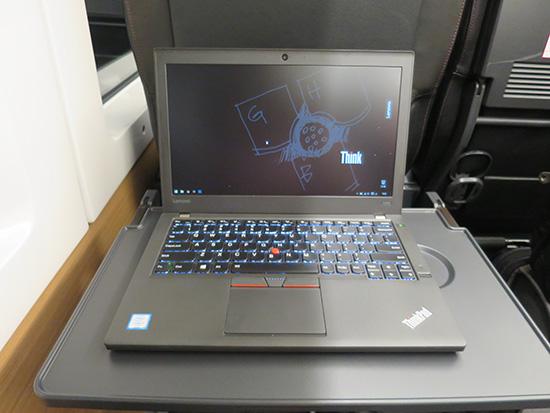 ThinkPad X260 成田エクスプレスグリーン車で開いてみる