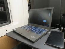 thinkpad X260をテザリング 車内のWIFIより快適