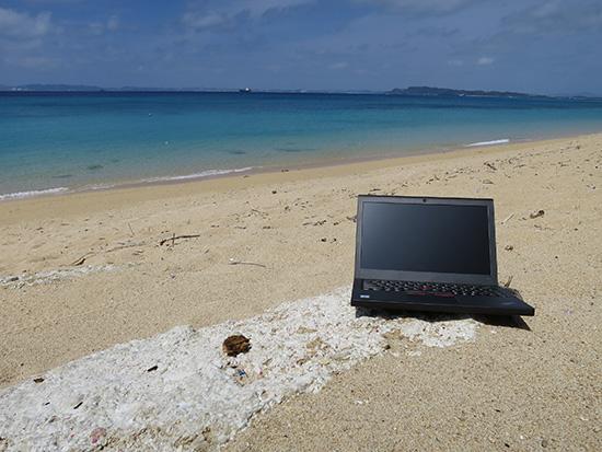 X260 時間があったらビーチで一仕事したらきもちがいいだろうなぁ