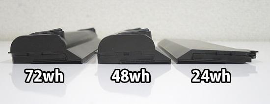 ThinkPad X260 のリアバッテリー横から見た出っ張り