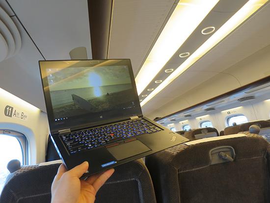 新幹線でThinkPad Yoga 260を持ってみる