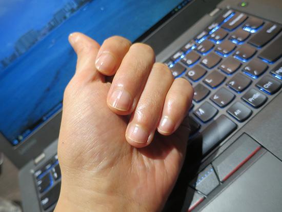 メンズネイル ネイルケアしたら指がピカピカに