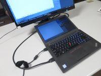 ThinkPad X260 HDMIケーブルをつなげてデュアルディスプレイ