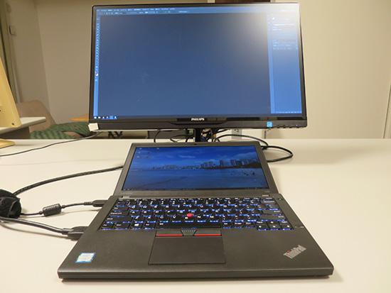 X260本体をマルチディスプレイにするときは縦置きが多い