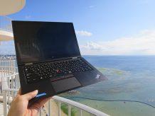 ThinkPad X1 yoga 外観・デザインを沖縄で楽しむ