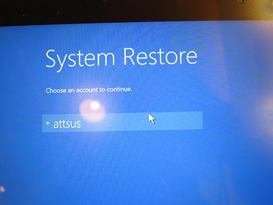 windows10 ユーザー名を選択