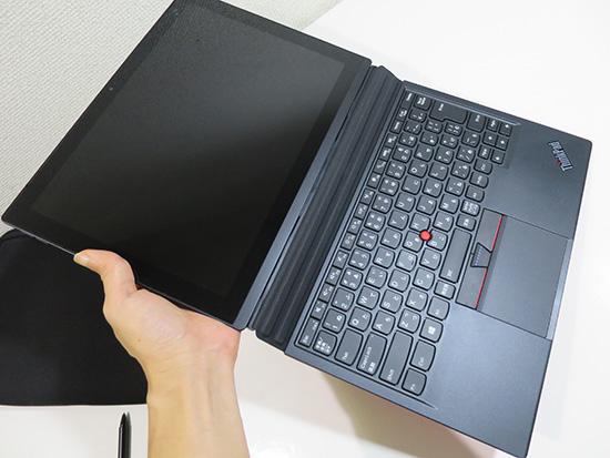 x1 Tablet 液晶部分を軽く持っていたら落とした
