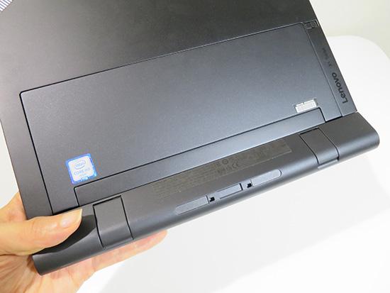 x1 Tablet プロダクティビティーモジュールを取り付けたときの裏面